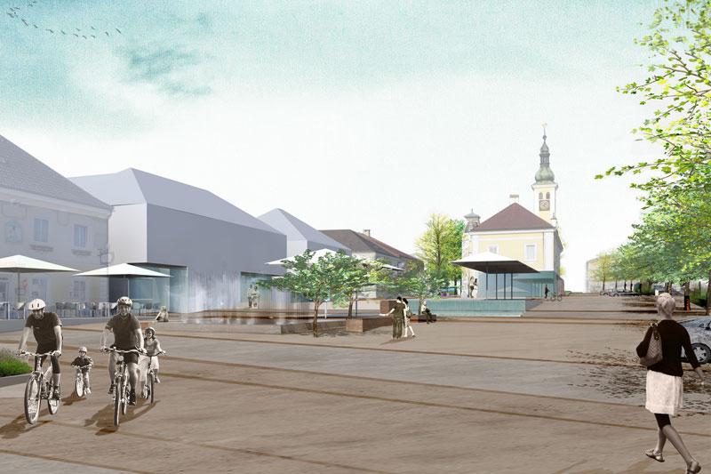 Aschbach Zentrum Poppe Prehal Ortsplatzgestaltung